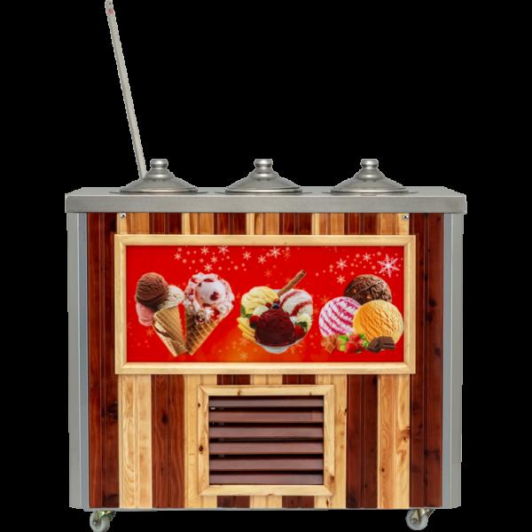 Uğur UDM 3 MF AHŞAP 10/4lt. Dondurma Fıçıları
