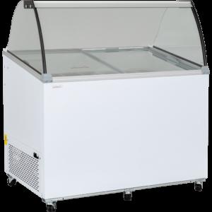 Uğur UDR 10 SCE Sürgü Cam Kapaklı ve Bombe Cam Vitrinli Dondurma Teşhir Reyonu – 10 Kaplı
