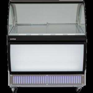 Uğur UDR 10 SCE ANKA Sürgü Cam Kapaklı ve Bombe Cam Vitrinli Dondurma Teşhir Reyonu – 10 Kaplı